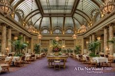 Garden Court Dining Room at the Palace Hotel in San Francisco