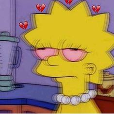 High Lisa Simpson, The Simpsons Simpson Wallpaper Iphone, Sad Wallpaper, Aesthetic Iphone Wallpaper, Cartoon Wallpaper, Aesthetic Wallpapers, Iphone Wallpaper Tumblr Grunge, Trendy Wallpaper, Cartoon Icons, Cartoon Memes