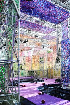 Stage design at Dior Haute Couture Autumn-Winter 2015-16 Fashion Show #PFW #Dior #AW15 #LVMH