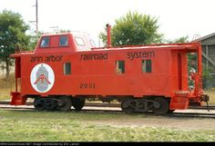 Ann Arbor Railroad System expanded steel caboose....