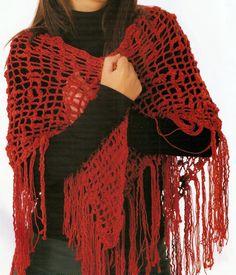 xales croche com receita graficos vermelho patagônia aprender croche