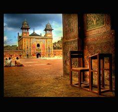 "View of "" Wazir Khan"" Mosque. Lahore Pakistan"