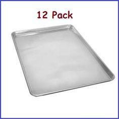 "(12 Pcs.) Full Size Aluminum Sheet Pan 18""x26"" Commercial Kitchen and Bakery 1 Dozen *NSF*"