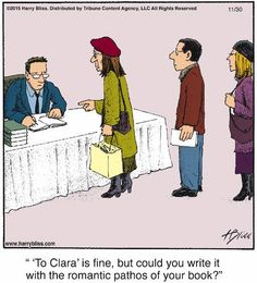 Mystery Fanfare: Cartoon of the Day: Booksigning