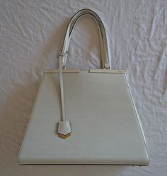 ~$3K AUTHENTIC FENDI WHITE LEATHER 3JOURS SHOPPER TOTE BAG  (OMG OMG!) ~ #FENDI…