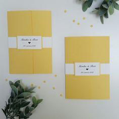Żółte zaproszenia ślubne /yellow wedding invitations