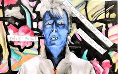 New painting of David Bowie - Loving the Alien David Bowie Art, The Darkest, Fan Art, Etsy Shop, Comics, Drawings, Artwork, Artist, Painting