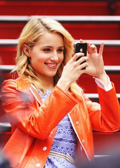 Dianna Agron. It's funny I can tell what episode it is just grime her outfit. Can you say NYC season two finale?
