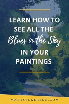 Color Mixing for Landscape Painting: How to Mix the Blues of the Sky Painting Lessons, Painting Tips, Painting Tutorials, Art Lessons Online, Art Articles, Paintings I Love, Abstract Styles, Art Tips, Art Techniques