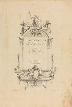 Cartouches Nouvellement Inventez par J.B. Toro (Title Page) Designer: Jean Bernard Toro,  French