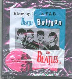 BEATLES 1964 BEATLE BALLOON SEALED w/PACKAGE~ Hot Pink!