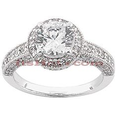 $1,359 14K Designer Diamond Engagement Ring up to 3ct center diamond available - choose white, yellow, or rose gold for a custom and unique ring!