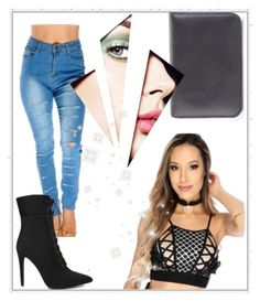 """Crop tops and booties!"" by amiclubwear on Polyvore featuring Model, booties, Trendy and amiclubwear"