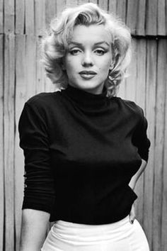 Marilyn Monroe. Quite the bombshell... and how about the bullet bra?