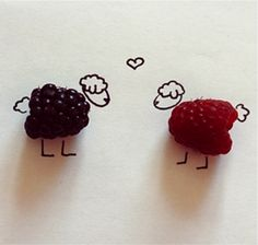 Berries are also Antioxidants.look at those cute little Antioxidant Sheep! Cute Animal Drawings, Cute Drawings, Fruit Love, Happy Fruit, Fun Fruit, Rainbow Fruit, Cute Sheep, Funny Sheep, Opposites Attract