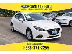 2016 White Mazda i Sport Mazda Mazda3, Mazda 3, Hyundai Sonata, Fes, Santa Fe, Sport, Deporte, Sports