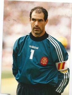 Andoni Zubizarreta de España en la Eurocopa 1996.