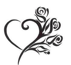 Tribal Heart Tattoo Design heart tattoo designs - Tattoos And Body Art Tribal Heart Tattoos, Simple Heart Tattoos, Heart Tattoo Designs, Tattoo Designs For Women, Tattoos For Women, Heart Designs, Rose Heart Tattoo, Rose Tattoos, Body Art Tattoos