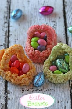 Rice Krispie Easter Baskets
