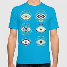 Evil Eye Collection on White T-shirt