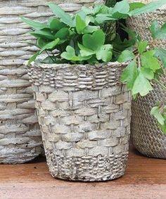 Cement Cloth Planters - Google Search