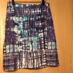 New Listing The Limited Skirt Blue/white/Teal skirt The Limited Skirts