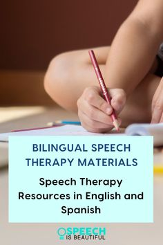 Bilingual Speech Therapy Resources - Do you struggle to find speech therapy materials in both English and Spanish? This speech therapy resource for SLPs was created for SLPs who work with bilingual students. This is your one-stop shop for speech therapy materials in English and Spanish. - Speech is Beautiful