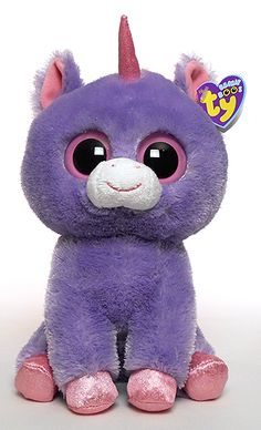 2d48d20d49e1 Rainbow (medium), Ty Beanie Boos unicorn reference information and  photograph.