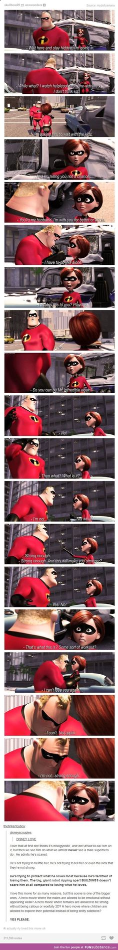 Incredible movie (Pixar, know i put it in Disney section---k)
