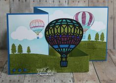 Recently when showing my husband some of my creations using items from the new Occasions Catalog, he remarked on a card using the Lift me Up. Z Cards, Paper Cards, Kids Cards, Cute Cards, Stampin Up Cards, Up Balloons, Birthday Balloons, Air Balloon, Baby Boy Cards Handmade
