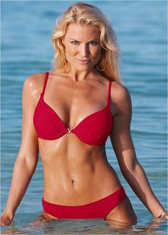 Shop Red Hot (RDD) Enhancer Top, Scoop Front Bottoms from VENUS swimwear online or call: Push Up Bikini Tops, Bikini Bottoms, Rachel Reynolds, Venus Swimwear, Brazilian Swimwear, Mix And Match Bikini, Bikini Swimsuit, Front Bottoms, Bikini
