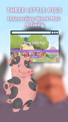 Three Little Pigs Interactive Word Mat Activity Eyfs Activities, Interactive Activities, Writing Activities, Fun Educational Games, Educational Videos, Educational Technology, Three Little Pigs Story, Apps For Teaching, Traditional Tales