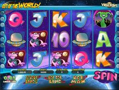 Play the Out of This World classic rtg video slot game for free or for money at 1OnlineCasino.com