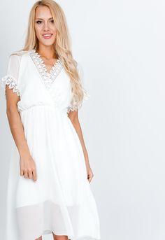 Biele letné šaty s čipkou - ROUZIT.SK White Dress, Dresses, Fashion, Vestidos, Moda, Fashion Styles, Dress, Fashion Illustrations, Gown