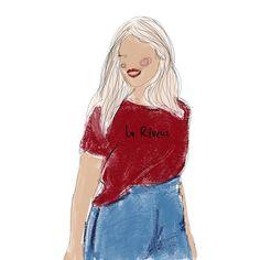 LA REVEUZ ILLUSTRATION - #lareveuz #illustration #fashionillustration #girl #frenchillustrator #drawing