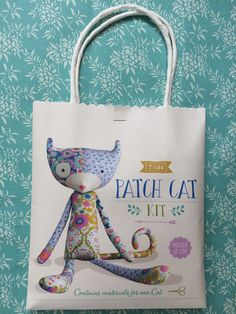 Tilda Patch Cat Kit - Contains material for one cat by FabriClutter on Etsy