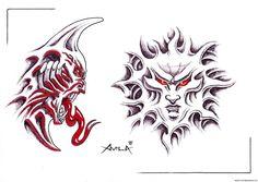 crazy biomech #tattoo #designs