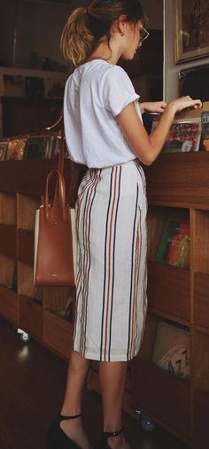 summer outfits Almost Friday Vibe In @elka_collective Skirt ✨