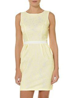 Lemon stud front dress