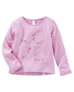 Toddler Girl Love Keyhole Top from OshKosh B'gosh. Shop clothing & accessories from a trusted name in kids, toddlers, and baby clothes.