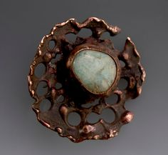 Brooch A Day Copper and Torch-fired Enamel - Scars Make Your Body More Interesting. Markasky via Etsy.