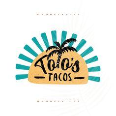 Food Truck Logo Taco Palm Tree Logo Street Style Logos Pre-made Logos Design Handmade Small Business