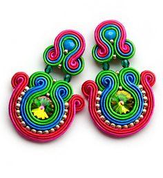 Soutache earrings Boucles d'oreilles Orecchini by SaboDesign