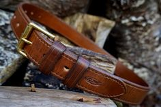 A very special hand made belt, hand dyed with top stitching detail made personally for Beaver Bushcraft by Mark @ Shark designs.