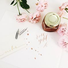 Rose gold ink kit from Laura Hooper Calligraphy http://lhcalligraphy.com/product-category/calligraphy-supplies/