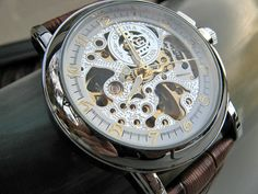 Mechanical Luxury Wrist Watch with Genuine by ArtInspiredGifts