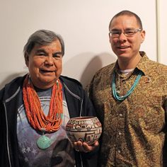 Robert Tenorio (Santo Domingo) and Ken Williams, store manager Store Manager, Crochet Necklace, Beaded Necklace, Native American Artists, Fashion, Santo Domingo, Beaded Collar, Moda, Crochet Collar