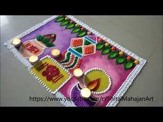Postar rangoli for diwali festival Rangoli Designs Peacock, Rangoli Designs Latest, Simple Rangoli Designs Images, Rangoli Border Designs, Rangoli Designs Diwali, Rangoli Designs With Dots, Beautiful Rangoli Designs, Henna Designs, Diya Rangoli