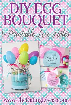 What a fun Easter DIY decoration that doubles as a gift for my hubby! Love the secret printable egg notes! www.TheDatingDivas.com