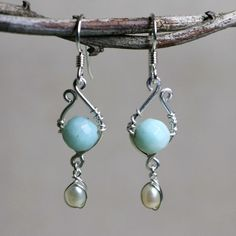 Blissful Dream Fresh Water Pearl Amazonite by CammieLaneJewelry